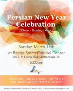Persian New Year Celebration @ Bessie Smith Cultural Center | Chattanooga | Tennessee | United States